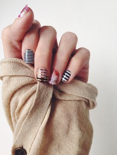 Jamberry black & white mani