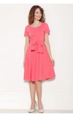 Photo Sukienka BALLADA z kokardą różowa #5
