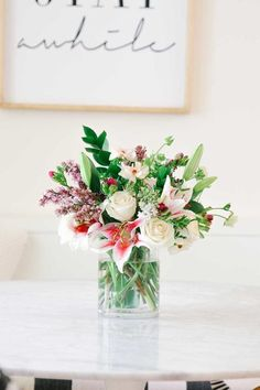 Make this flower arrangement for mother's day using store bought flowers! Flowers Last Longer, All Flowers, Summer Flowers, Beautiful Flowers, Flowers Garden, Purple Flowers, Beautiful Flower Arrangements, Floral Arrangements, Different Types Of Flowers