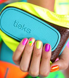 Get Your Ne-On! #OPI #Tieks #nails #neon