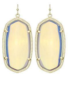 Danielle Earrings in Clear Iridescent - Kendra Scott Jewelry.