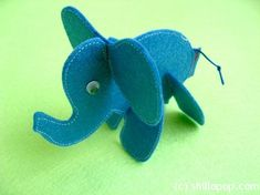Looks like someone turned our Faux Bois Elephants into a cute felt toy.  @ShillOPOP Cool!
