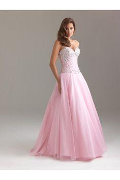 Pink Sweetheart Organza Princess Prom Dress NY007