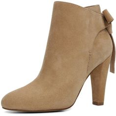 Aldo Aldo Huffington High Cone Heel Ankle Bootie With Back Bow ($115) ❤ liked on Polyvore featuring shoes, boots, ankle booties, aldo booties, high heel bootie, bootie boots, short high heel boots and short boots