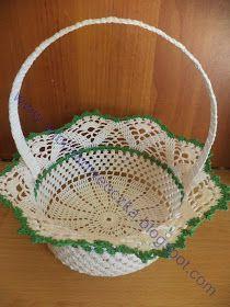 Crochet Bowl, Easter Crochet, Crochet Art, Thread Crochet, Crochet Motif, Crochet Crafts, Crochet Doilies, Crochet Flowers, Crochet Border Patterns