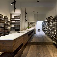Aesop Islington by Ciguë : French designers Ciguë modelled this north London store for skin and haircare brand Aesop on a 1930s medical laboratory.