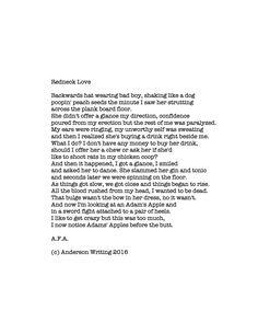 Redneck Love Printable poem By AFA (c) Anderson Wrote 2016