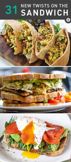 31 Healthy Sandwich Recipes — This classic lunch and dinner staple gets a major upgrade with these crazy delicious recipes. #healthy #sandwich #recipes #greatist