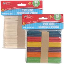 Bulk Crafters Square Wooden Craft Sticks, 100-ct. Packs at DollarTree.com