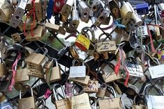 "Padlocks in Paris (also known as Love Locks) are affixed to a fence, gate, bridge or similar public fixture by sweethearts to symbolize their everlasting love.  The idea of Love Locks is spreading around the world,  (In Rome, the ritual of affixing love padlocks to the bridge Ponte Milvio can be attributed to the book ""I Want You"" by Italian author Federico Moccia)"