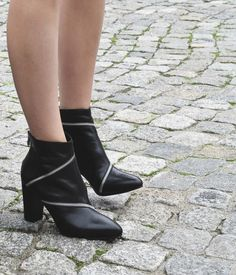 concept leather ankle boots #Reserved #Autumncollection