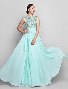 A-line Scoop Floor-length Chiffon Evening/Prom Dress (944183... – USD $ 109.79