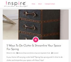 Out latest #designblog: 5 Ways To De-Clutter & Streamline Your Space For Spring http://theinspireblog.com/2016/03/5-ways-to-de-clutter-streamline-your-space-for-spring/