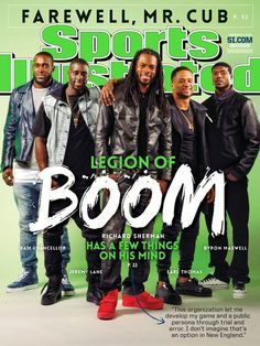 """Richard Sherman, ""Legion of Boom"" featured on cover of Sports Illustrated.""  Nice! #GoHawks #LOB #SB49"