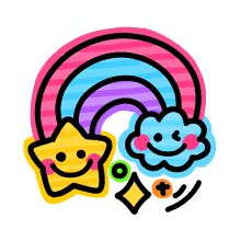 colorful neon emoji 2 – LINE Emoticón Emoji 2, Emoticon, Word Art, Slide Background, Teacher Stickers, Borders For Paper, Happy Words, Kawaii Art, Easy Drawings