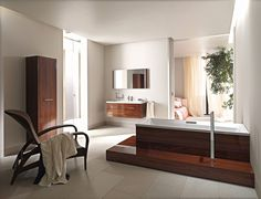 The 2nd Floor collection specialises in warm, wood elements that provide a striking contrast with the clean white finish of the ceramic and acrylic sanitaryware. http://www.cphart.co.uk/view-our-brochures/ #bathrooms #bathroomideas
