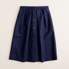 J Crew Flair Skirt in Double-serge Wool Size 6 Gently used, great condition J. Crew Skirts A-Line or Full