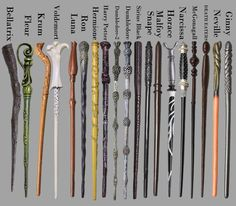 Wands as unique as the wizards that use them. #harrypotter