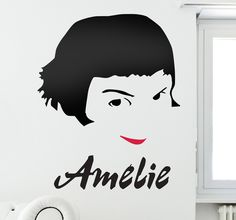 Movie Fan? We offer a wide collection of #stickers specially designed for you! #movie #film #amelie #DIY #wall #art #home #decor #idea
