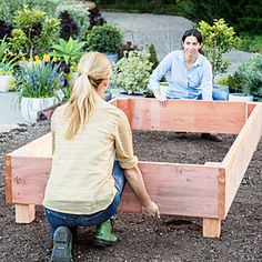 Anchor the bed - How to Build a Raised Garden Bed - Sunset Mobile