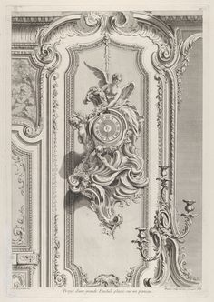 Juste Aurèle Meissonnier | Projet d'une grande Pendule, from 'Oeuvre de Juste Aurele Meissonnier' | The Metropolitan Museum of Art