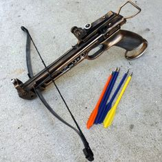 Hunger Game crossbow bow arrow gun toy steampunk victorian ZOMBIE vampire killer inspired by Katniss Everdeen- limited. $49.99, via Etsy.