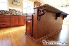 Exceptionnel The Decorative Corbels On This Kitchen Island Add A Ton Of Character To The  Space.