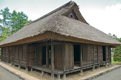 Traditional Japanese House. Simple lines in complex arrangement.