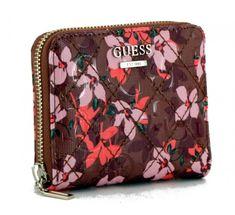 Portmonee Guess Lola SLG Black Floral Braun Emblem, Slg, Floral, Black, Coin Purse, Pocket Wallet, Back Stitch, Floral Patterns, Artificial Leather