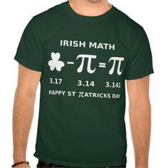 St Patricks Day and Pi Day Combination T Shirt Dark