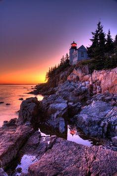 Arcadia national park in Maine USA