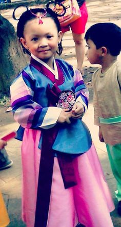 My little princess in her Hanbok costume for United Nation 2014