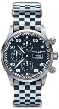 Chronograph Modern watch from Swiss Watchmaker Maurice de Mauriac. Swiss watches for men. Visit our website for more luxury swiss watches: http://mauricedemauriac.ch/