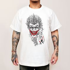 T-shirt Mockup : NYMPH ................................................................ © 2016 Black Akaliko / NYMPH ................................................................ Artist : Black Akaliko Facebook : www.facebook.com/... Facebook : www.facebook.com/... #shirt #joker #NYMPH #movie #BlackAkaliko