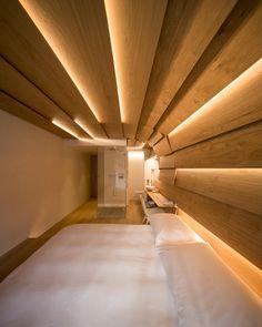 the ideal bedroom decor Hotel Room Design, Home Theater Design, Design Bedroom, Bedroom Decor, Cove Lighting, Interior Lighting, Restaurant Bar, Therme Vals, Ceiling Plan