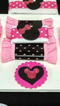 Minnie Mouse Birthday Party candy!  See more party ideas at CatchMyParty.com!