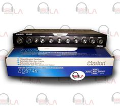 CLARION EQS746 7 BAND CAR AUDIO GRAPHIC EQUALIZER SYSTEM W 6 CHANNEL RCA OUTPUT #Clarion