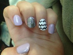 Acrylic nails-love these minus the silver and instead of purple do teal!