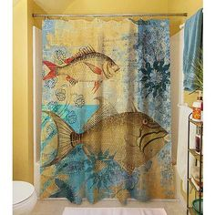 "Thumbprintz Caribbean Cove 5 Shower Curtain, 71"" x 74"""