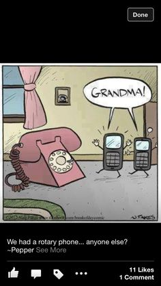Telephones=old                                                                                                                                                        Cell Phones=new