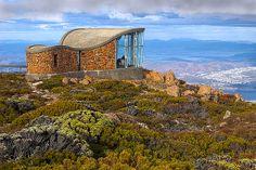 The Pinnacle Shelter at the summit of Mount Wellington is located in Wellington Park, Hobart, Tasmania, Australia. © Darren Stones All Rights Reserved Tasmania Hobart, Safari, Australian Capital Territory, Paris Shopping, Sky Art, Western Australia, Australia Travel, Wonderful Places, East Coast