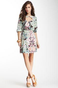Floral Diamond Cutout Dress on HauteLook