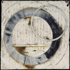Saatchi Online Artist: Melinda Hannigan; Echo #4, circles , Art Featuring Circles, Inspiration for CAPI Students at milliande.com , circles, kreis, symbology , metaphor, emotion, idea