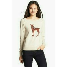 Halogen Deer Sweater Really cute sweater. Got a lot of compliments Halogen Sweaters