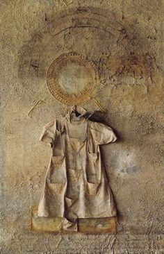 Anselm Kiefer, Shebirat Ha Kelim, 1990, plumb, glas, dress, ash and woman's hair on wood, 380 x 250 x 35 cm, © Anselm Kiefer, 2011, Courtesy Stiftung für Kunst und Kultur e.V.