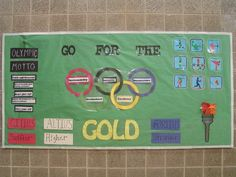 Google Image Result for http://www.pecentral.com/BulletinBoard/Images/318.jpg    Welcome student board- Olympic Theme?