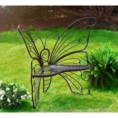Black Butterfly Metal Patio Chair | Kirklands