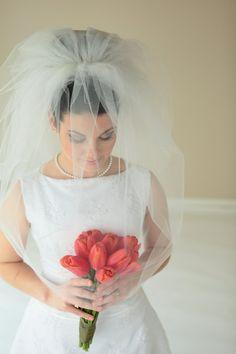 3-Tier Bubble veil bridal veil short veil wedding veil by SEveils
