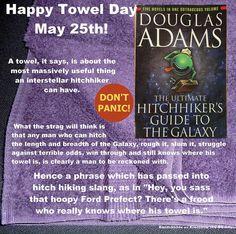 Happy Towel Day! #happytowelday #douglasadams #thehitchhikersguidetothegalaxy