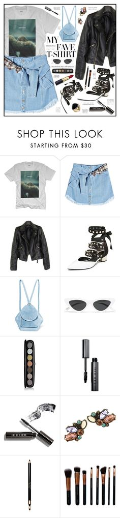 """""""MY BEYONCE TSHIRT!"""" by monicamonii ❤ liked on Polyvore featuring SJYP, Robert Clergerie, MANU Atelier, Le Specs, Marc Jacobs, Bobbi Brown Cosmetics, Clarins, M.O.T.D Cosmetics, Aurélie Bidermann and MyFaveTshirt"""